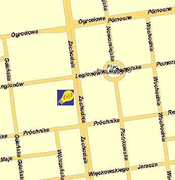 Mapa dojazdu - Talux Łódź